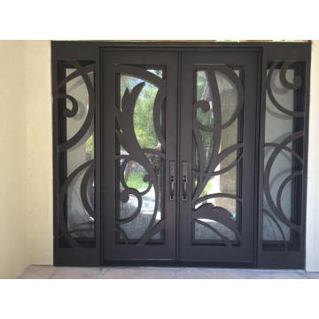Exterior Steel Door with Tempered Glass and Sidelight