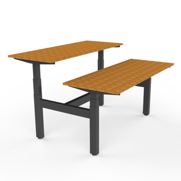 Metal Office Computer Table Frame For 2 Person