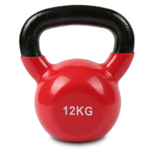 12KG Red Vinyl Coated Kettlebell
