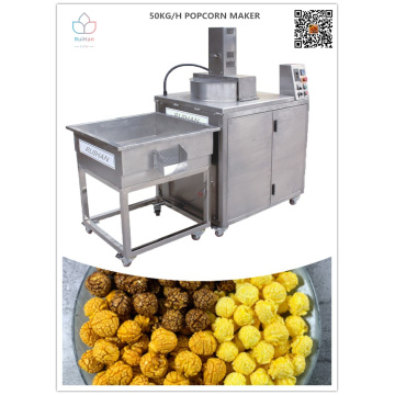 New generation automatic popcorn machine with labor savings