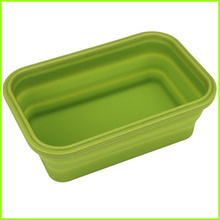 Personlized Products for Rectangular Collapsible Bento Lunch Box Set,Silicone Folding Lunch Box 100% Food Grade Silicone Lunch Bowl supply to Cayman Islands Factory