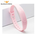 13.56mhz printed embossed silicone nfc rfid wristband