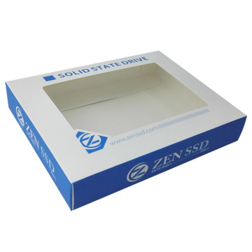 Custom paper box with transparent window