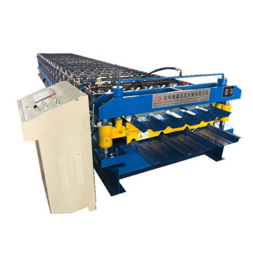 Double layer wall roof panel roll forming machine