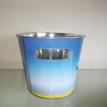 Professional Silver ice beer bucket handle barrel