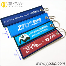 Functional 3cm short polyester embroidered key tag