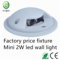 Factory price fixture mini 2W led wall light