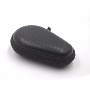 Carbon fiber leather travel watch case with zipper