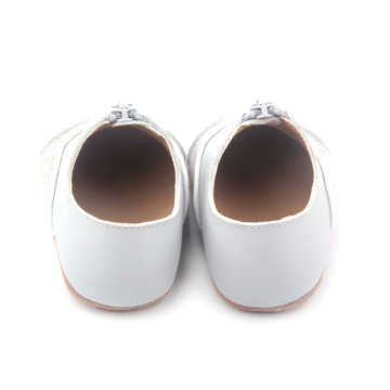 Unisex Zipper Infant Baby Leather Casual Shoes