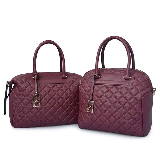high quality quilted custom leather laptop bag for women