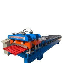Metal Glazed Tile Bamboo Profile Roll Forming Machine