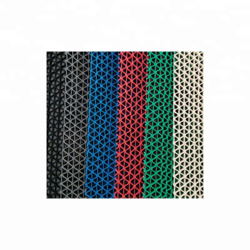Colorful Hollow waterproof antislip PVC S mat