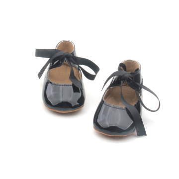 Black Ribbon Mary Jane Baby Girls Dress Shoes