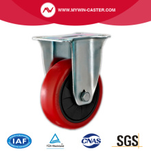 4'' Fixed Industrial PU Caster with PP core