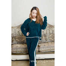 Soft fleece green pajama set