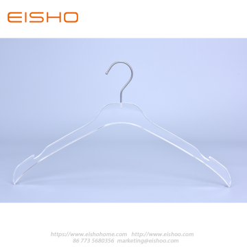 Transparent Acrylic Shirt Hanger With Notches