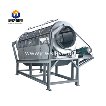 High efficient trommel screen for powder