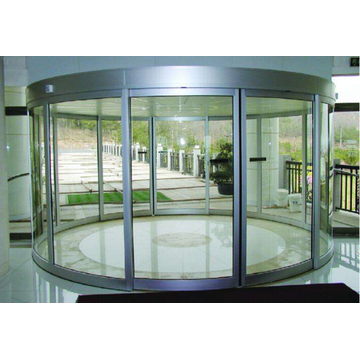 Caesar slider automatic curved glass door