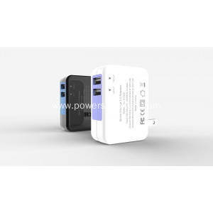 Multi Plug Dual Usb Travel Wall Charger
