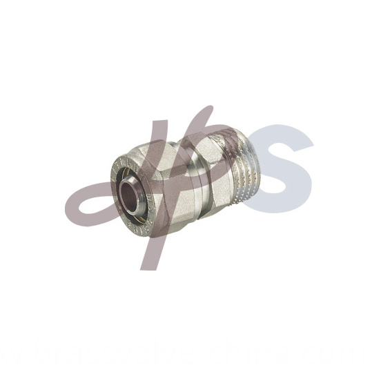 Brass Male Straight Compression Coupling