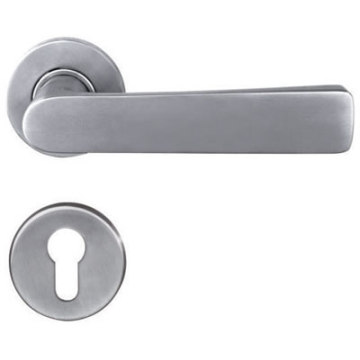 Solid Casting Lever Handle For Steel Door