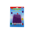Colorful Sprial Decorative Birthday Cake Candle For Children