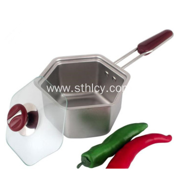 Hexagonal Stainless Steel Milk Pot Cooking