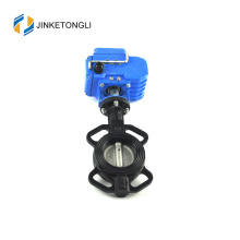 Best selling ductile cast iron double eccentric wafer water butterfly valve ptfe seated