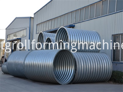 Culvert Pipe Corrugated Panel Roll Forming Machine
