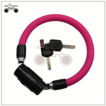 colorful steel cable bicycle bike lock for sale