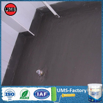 Waterproof coating for interior basement walls