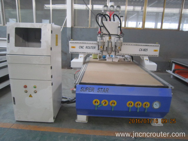 Automatic multihead woodworking cnc router 1325 machine
