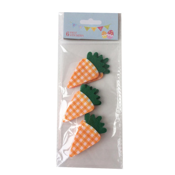 Easter sticker with stylish plaid carrot pattern