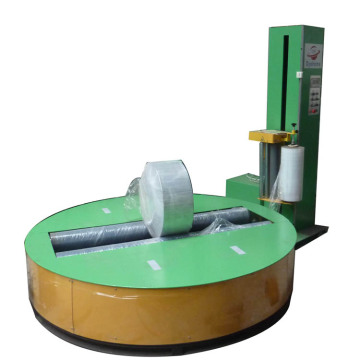 Single roll toilet paper wrapping machine