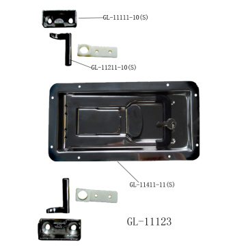 Double Enclosed Recessed Trailer Rear Door Lock