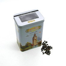 Quality for Tea Tin Box Square Tinplate Storage tea with Window tin cans export to South Korea Exporter