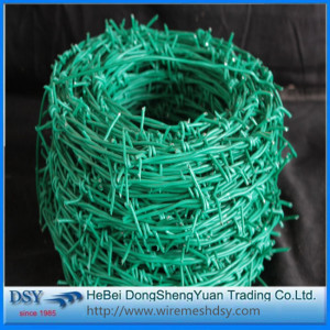 Galvanized safety barbed wire
