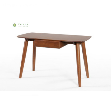 Madilim na Walnut Solid Wood 1.2M Study Desk