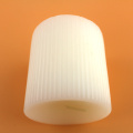 Flat and Concave White Unscented Pillar Fluted Candles