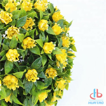 Artificial Plant Ball With Yellow Flower