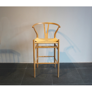 Y chair wooden high stool by solid wood