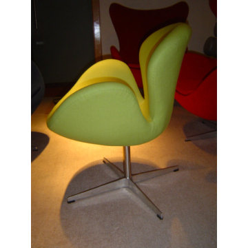Modern mid century fabric Swan Chair