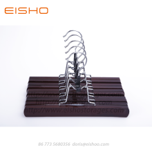 Wholesale Price for Dress Pants Hangers EISHO Wood Pants Hanger Clips For Posters Pictures export to Italy Exporter