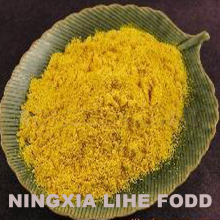 Bright yellow dehydrated pumpkin powder