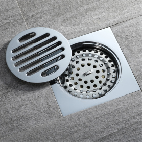 HIDEEP  Chrome Plating Anti-odor Brass Floor Drain