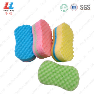 Exfoliating polish wax car cleaning sponge