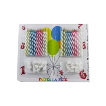 Birthday cake decor magic light candles