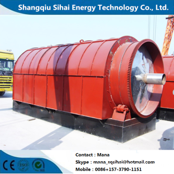 Second hand tires refining pyrolysis equipment