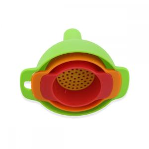 3PCS Plastic Oil Filter Funnels With Detachable Strainer