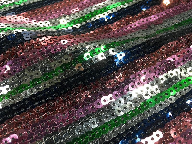 5MM Multicolor Sequin Embroidery Fabric